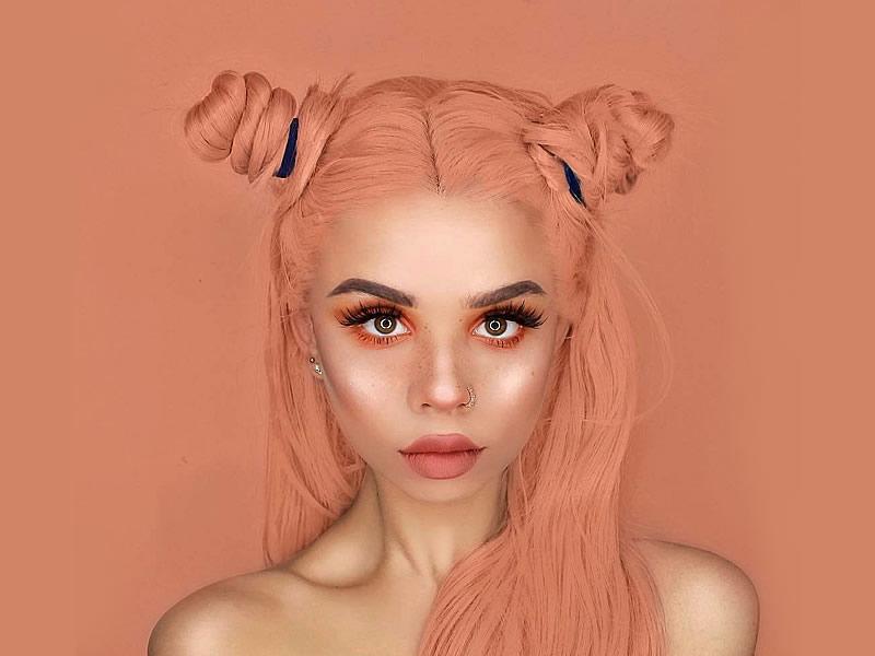 Turuncu makyaj önerileri, modelleri, bazı ve süngeri